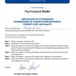 Сертификат, когнитивно-поведенческий терапевт